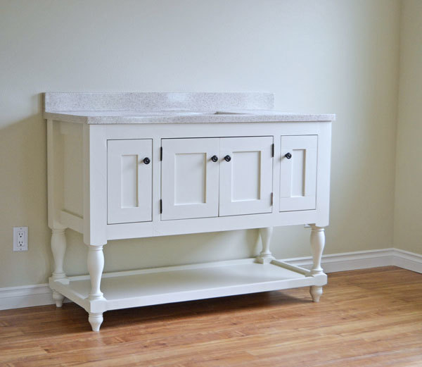 Ana White 48 Turned Leg Vanity DIY Projects