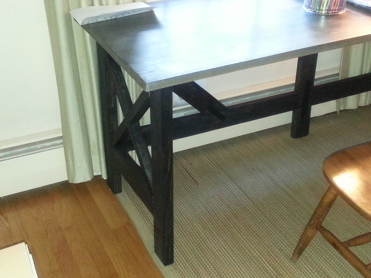 Rustic X Desk From Console Plan