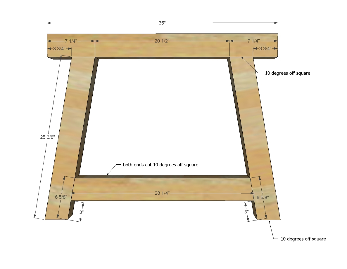 Ana white 4x4 truss beam table diy projects for Cross leg table plans