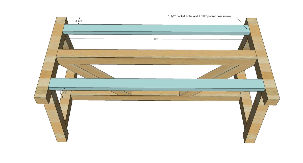 Ana white 4x4 truss beam table diy projects for Ana white x dining room table