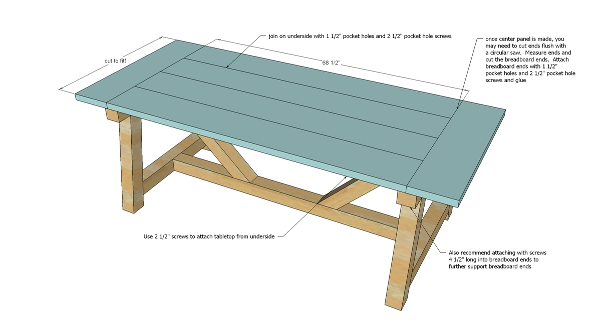 . Ana White   4x4 Truss Beam Table   DIY Projects