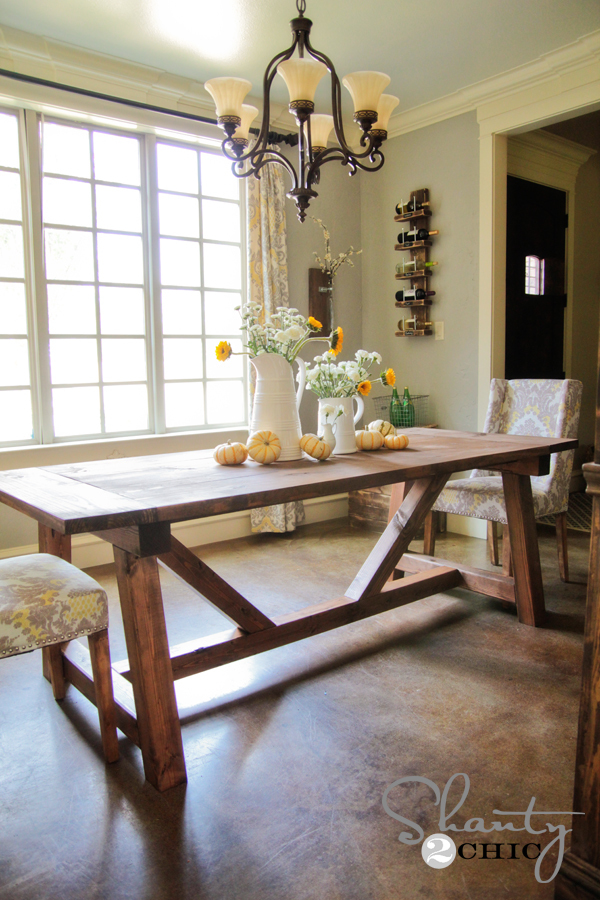 ana white | 4x4 truss beam table - diy projects Building a Dining Table