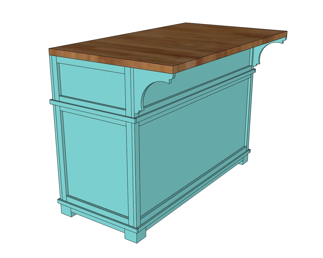 Ana White | Shepard Kitchen Island - DIY Projects
