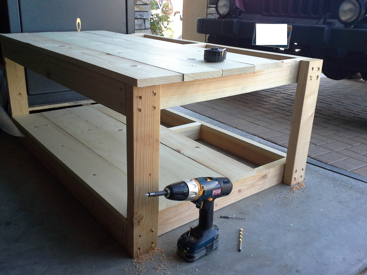 Amazing Modified Adirondack Coffee Table