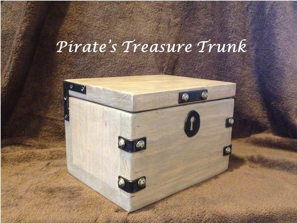 Build a Pirate's Treasure Trunk, using scrap lumber and some ...