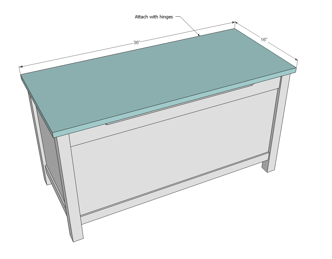 Toy Box Plans Ana white build a simple modern toy box with lid free ...