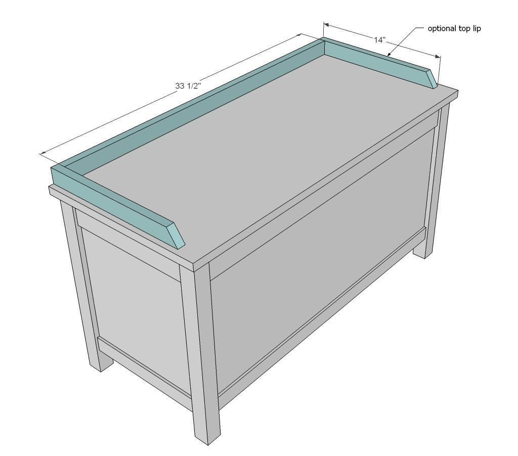 Ana White | Simple Modern Toy Box with Lid - DIY Projects