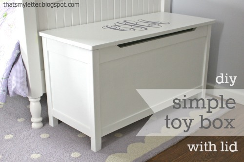 Ana White | Build a Simple Modern Toy Box with Lid | Free and Easy DIY ...