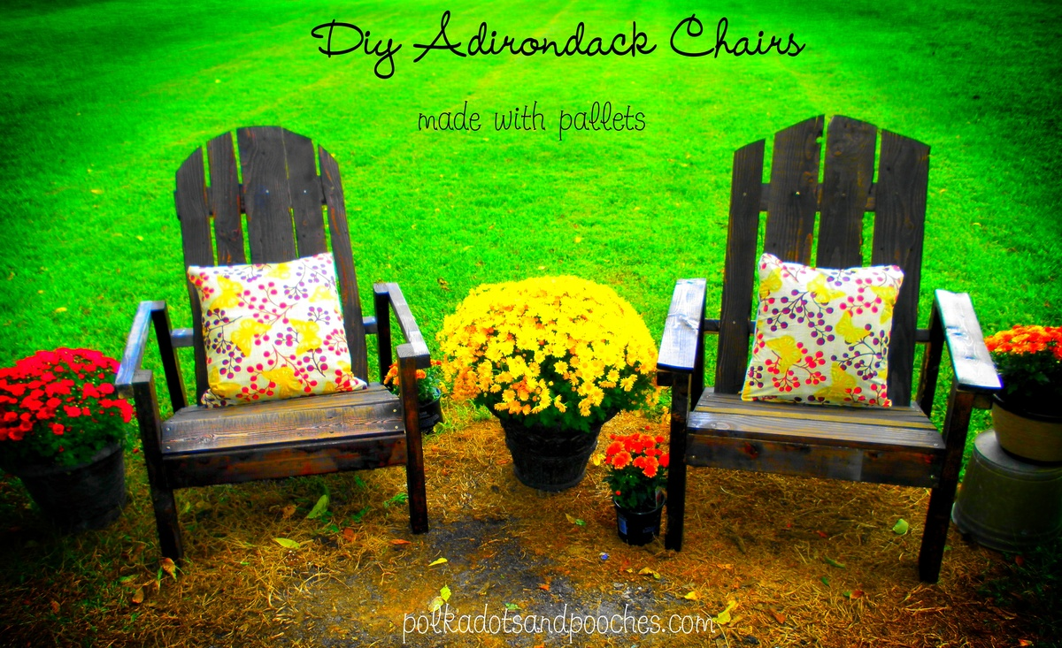 Ana White | Adirondack Chairs made from Pallets! - DIY ...