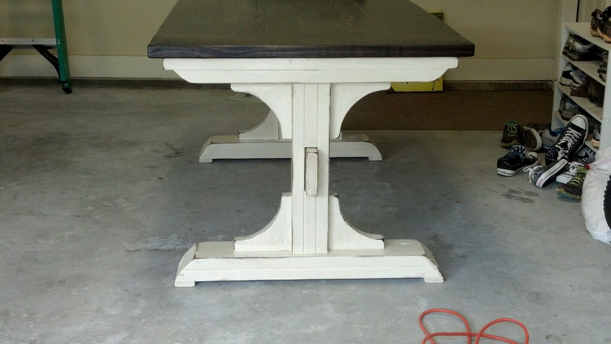 Ana White Double Pedestal Breakfast Table And Bench