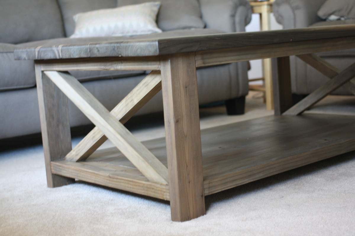 Rustic X Coffee Table Part 86