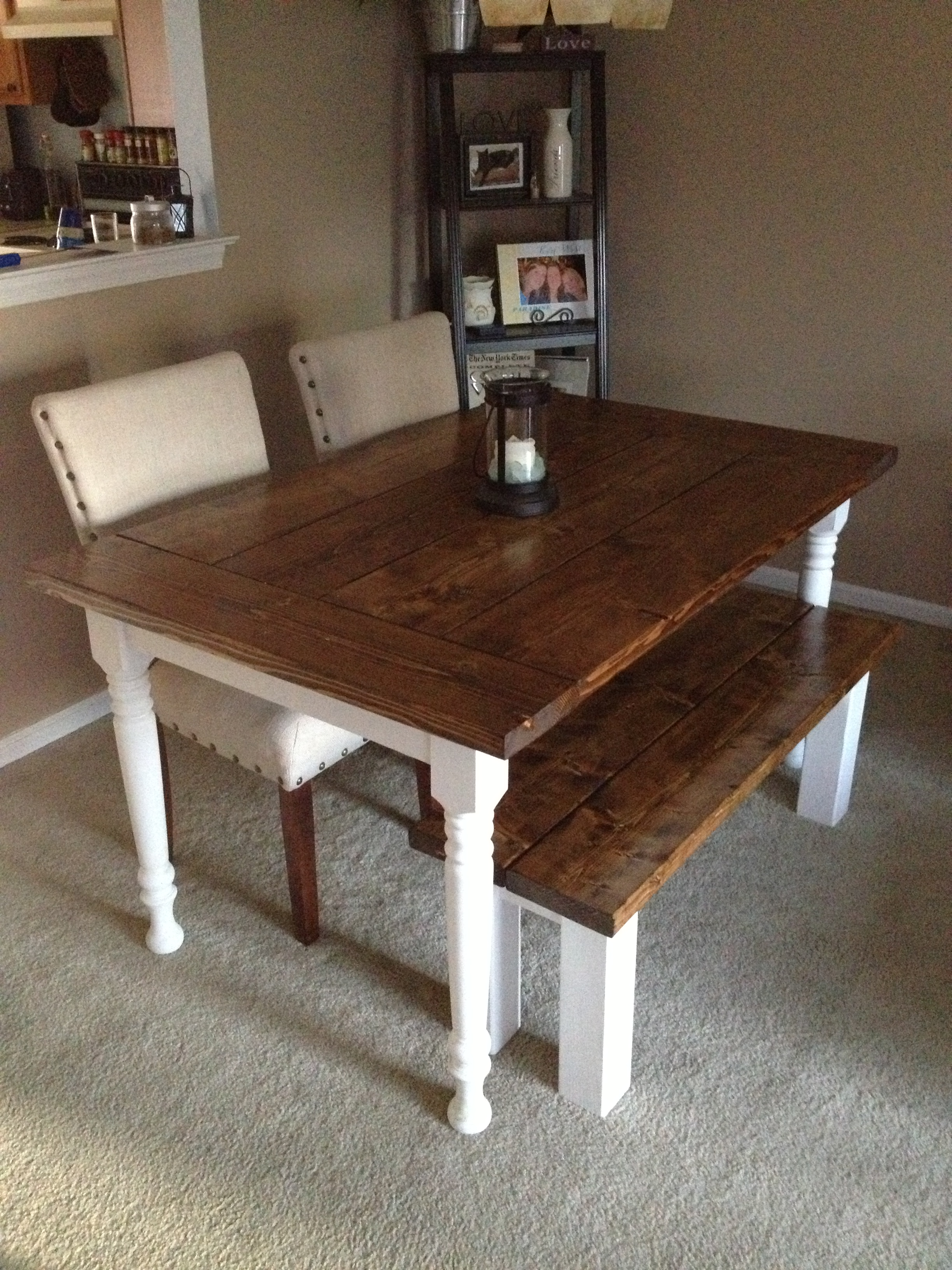 #3F2A1F Ana White Dining Room Table DIY Projects with 2448x3264 px of Recommended White Dining Room Bench 32642448 save image @ avoidforclosure.info