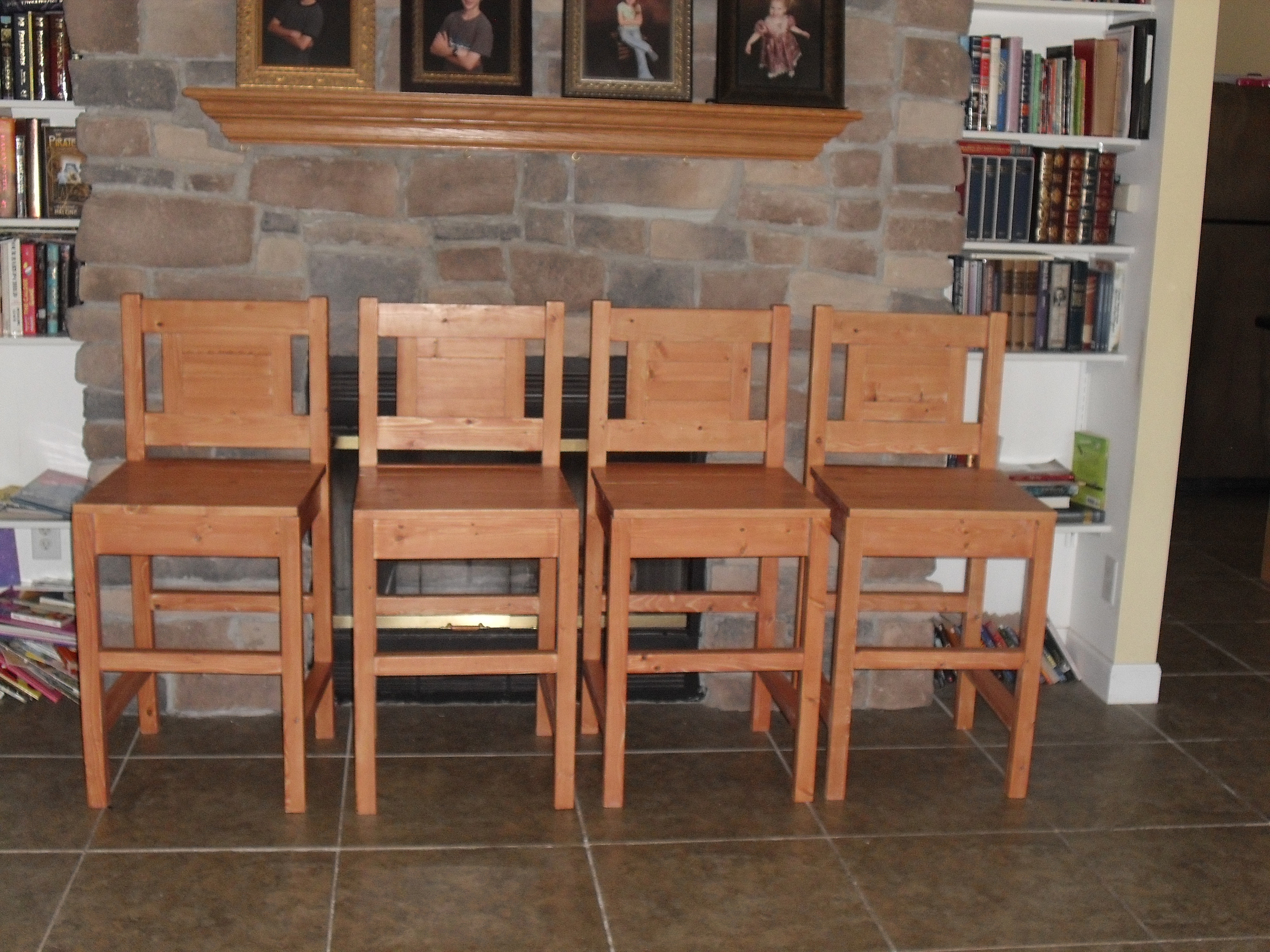 Ana White Colonial Maple Bar Stools Diy Projects