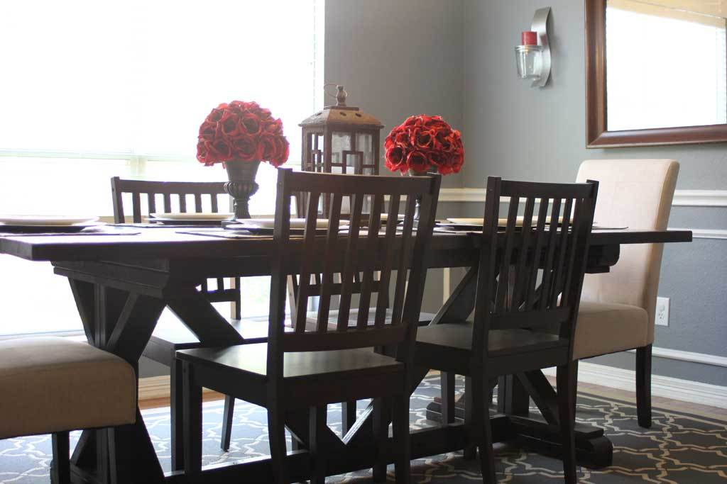 Ana white amusingmj 39 s fancy x leg farmhouse table diy for Fancy farmhouse