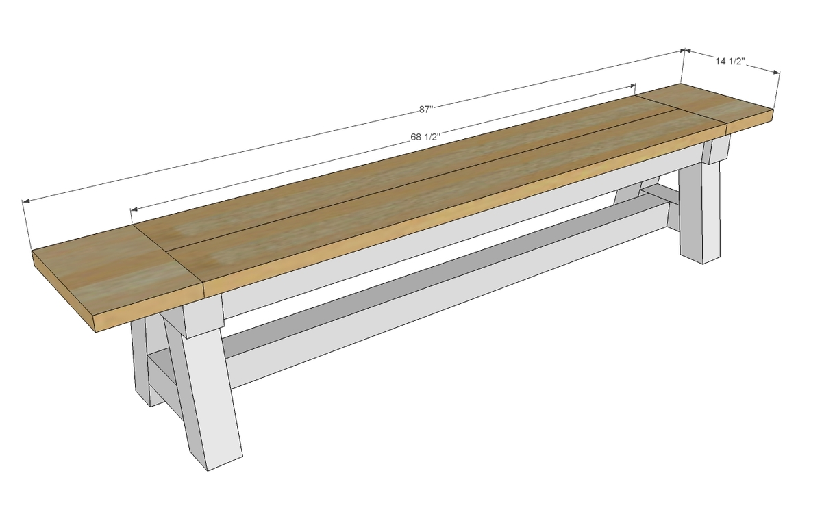 Woodwork 4x4 Bench Plans PDF Plans