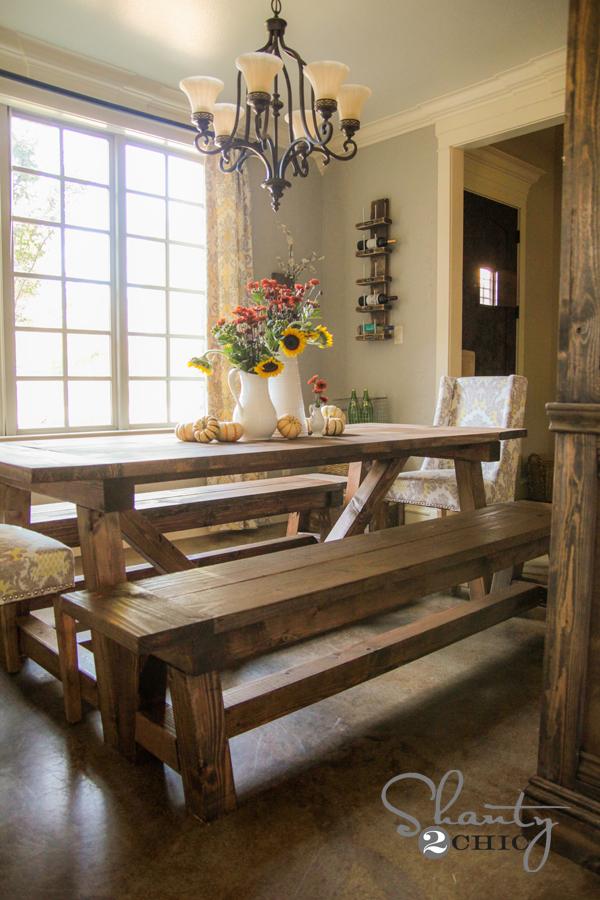 Pleasing 4X4 Truss Benches Ana White Machost Co Dining Chair Design Ideas Machostcouk