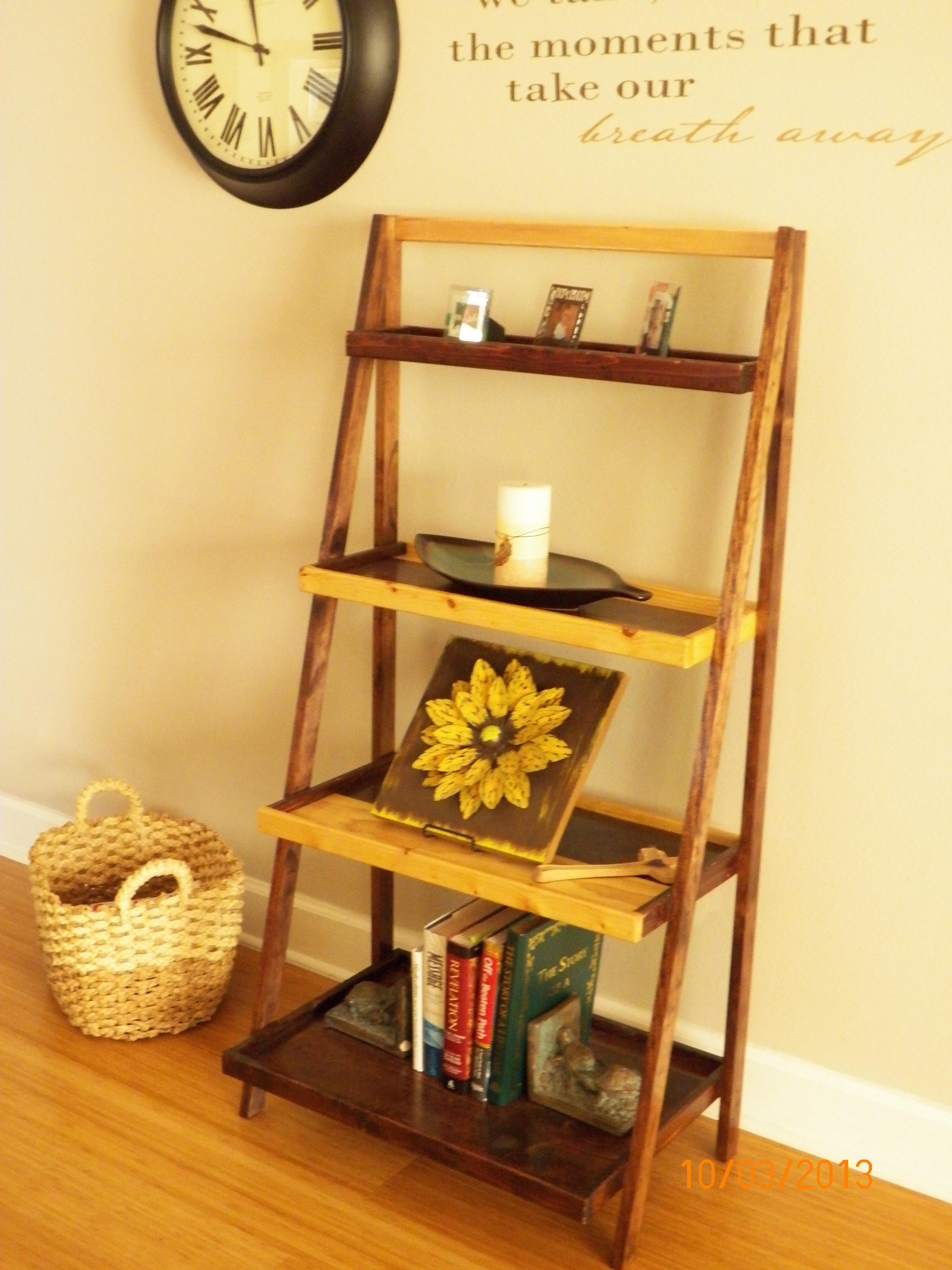 So Easy...love The Ladder Shelf.
