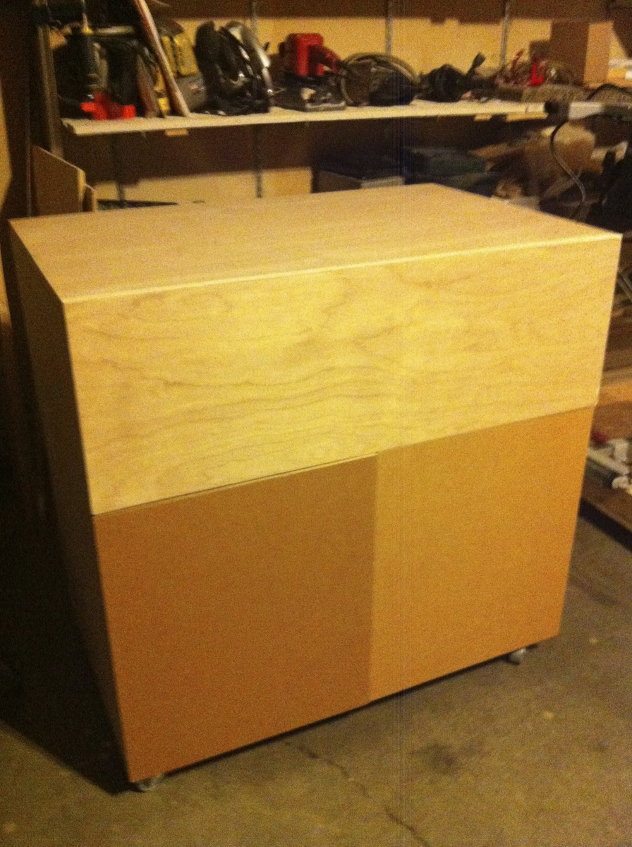 Ana White Changing Table Out Of Discarded Birch Plywood