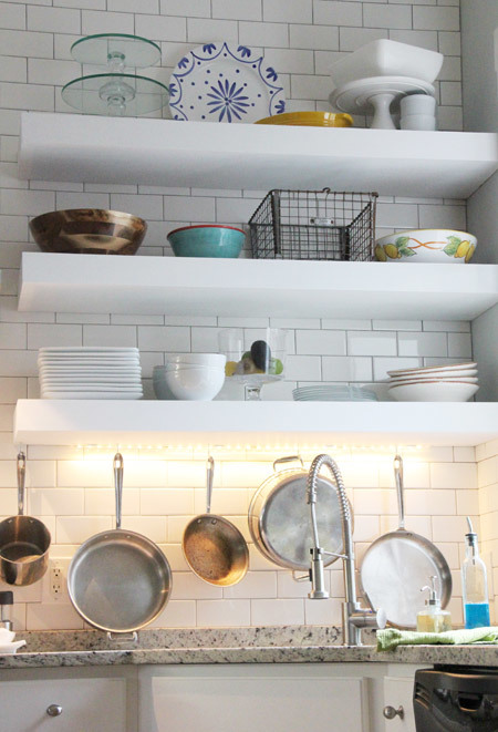 White Kitchen Shelf ana white | bigger, stronger, kitchen floating shelves - diy projects