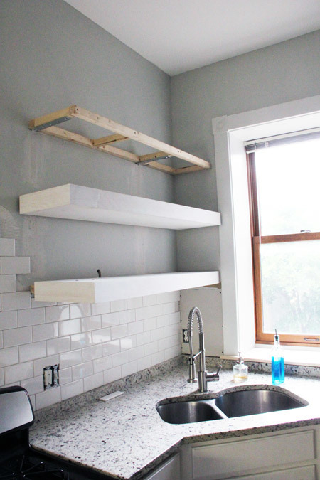 ana white bigger stronger kitchen floating shelves diy projects rh ana white com big boy floating shelves big boy floating shelves