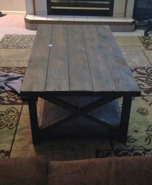 Rustic X Coffee Table And End Tables - DIY