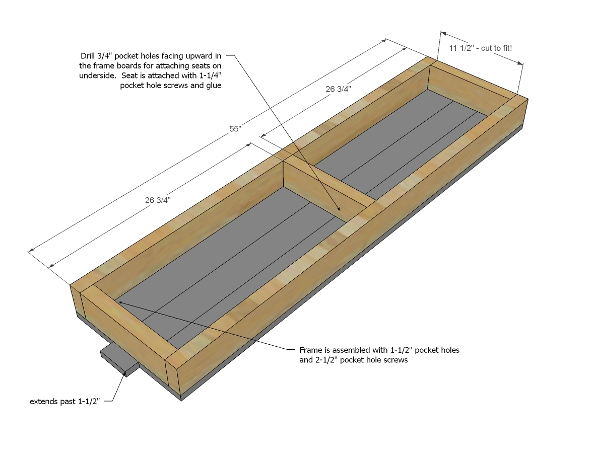 Ana White Farmhouse Table Updated Pocket Hole Plans | Best ...