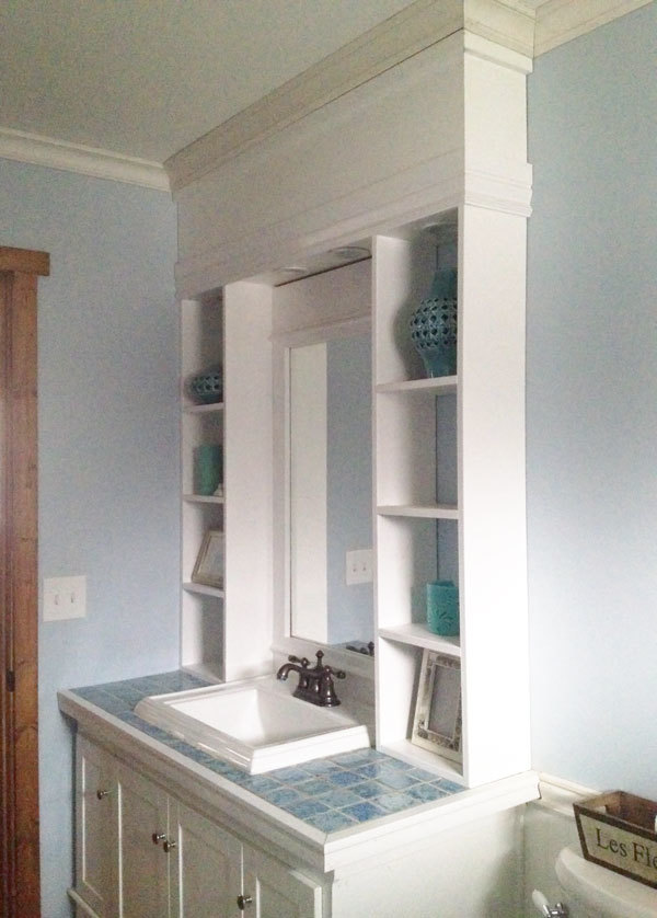 Bathroom Vanity Plans: Vanity Hutch With Recessed Lights - DIY Projects