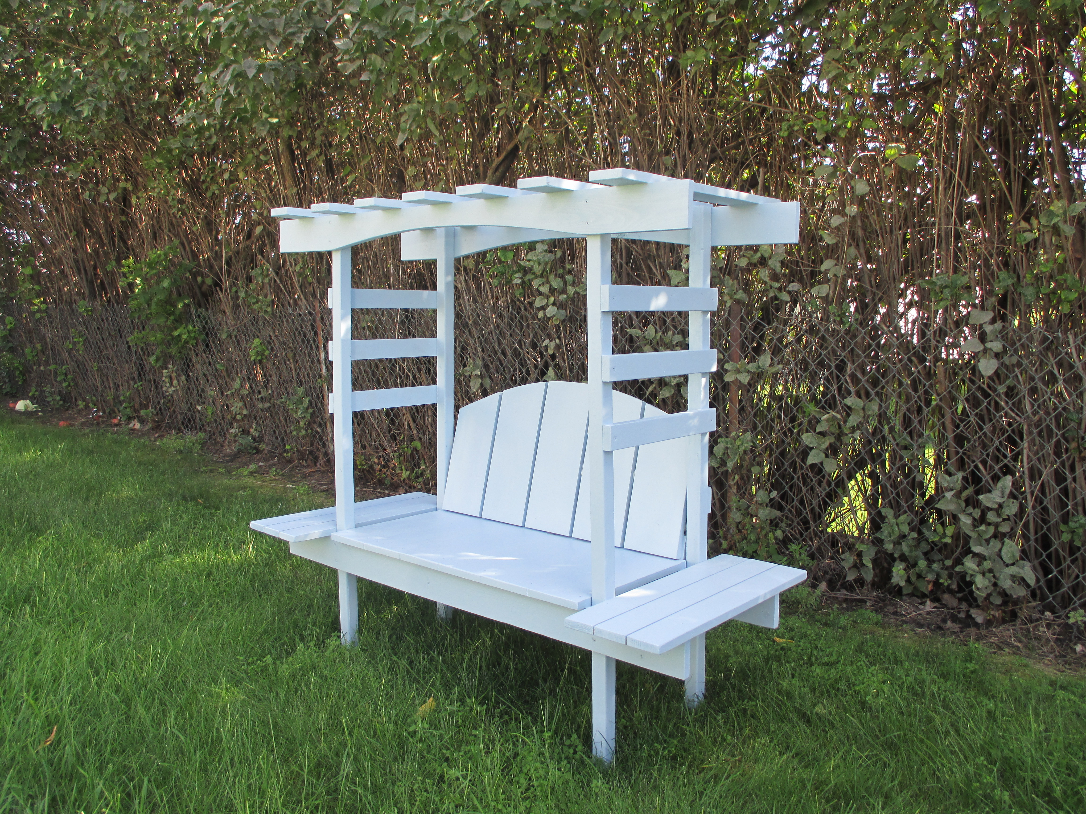 Picture of: Children S Bench With Arbor Ana White