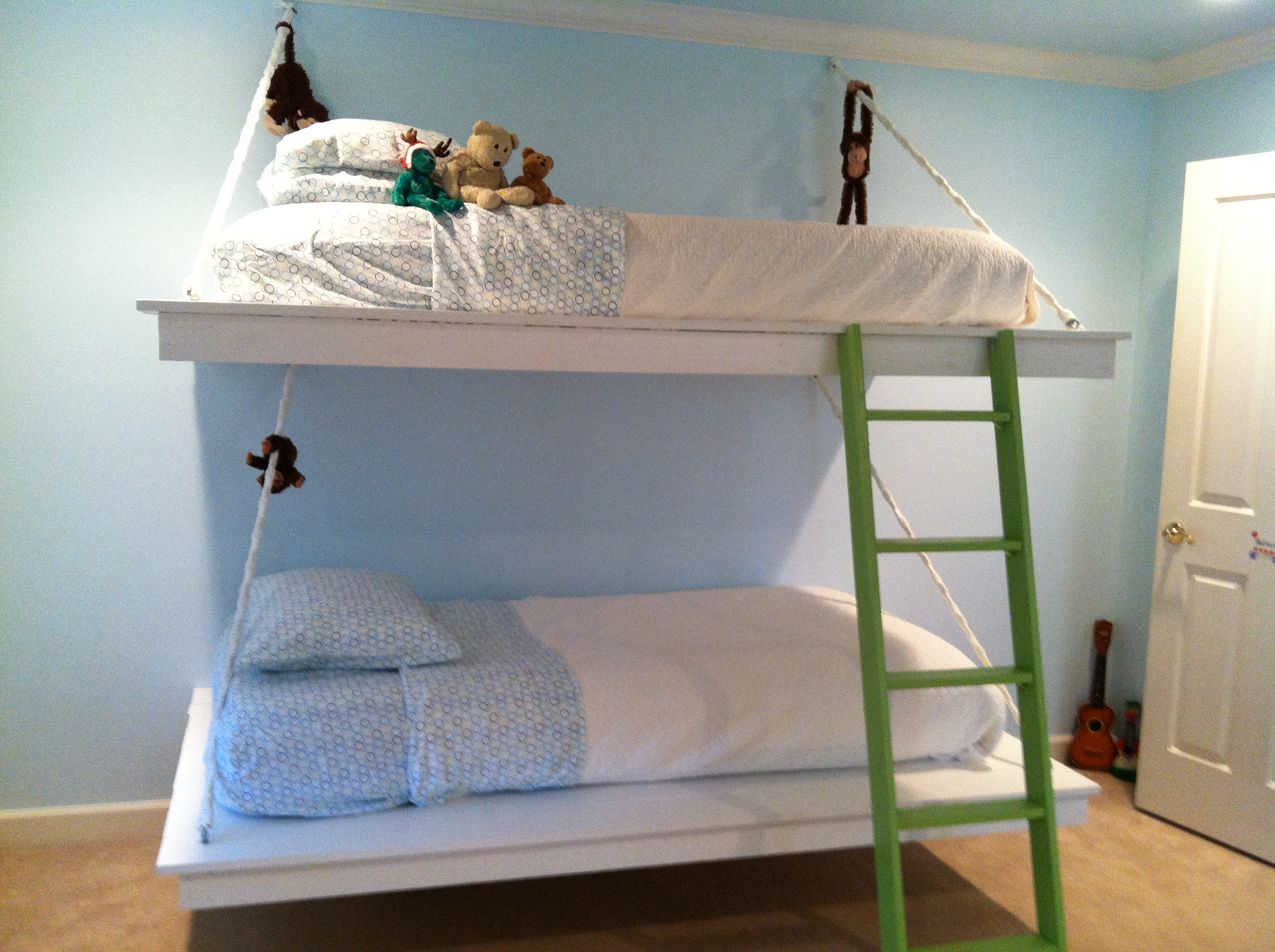 ana white hanging bunk beds diy projects
