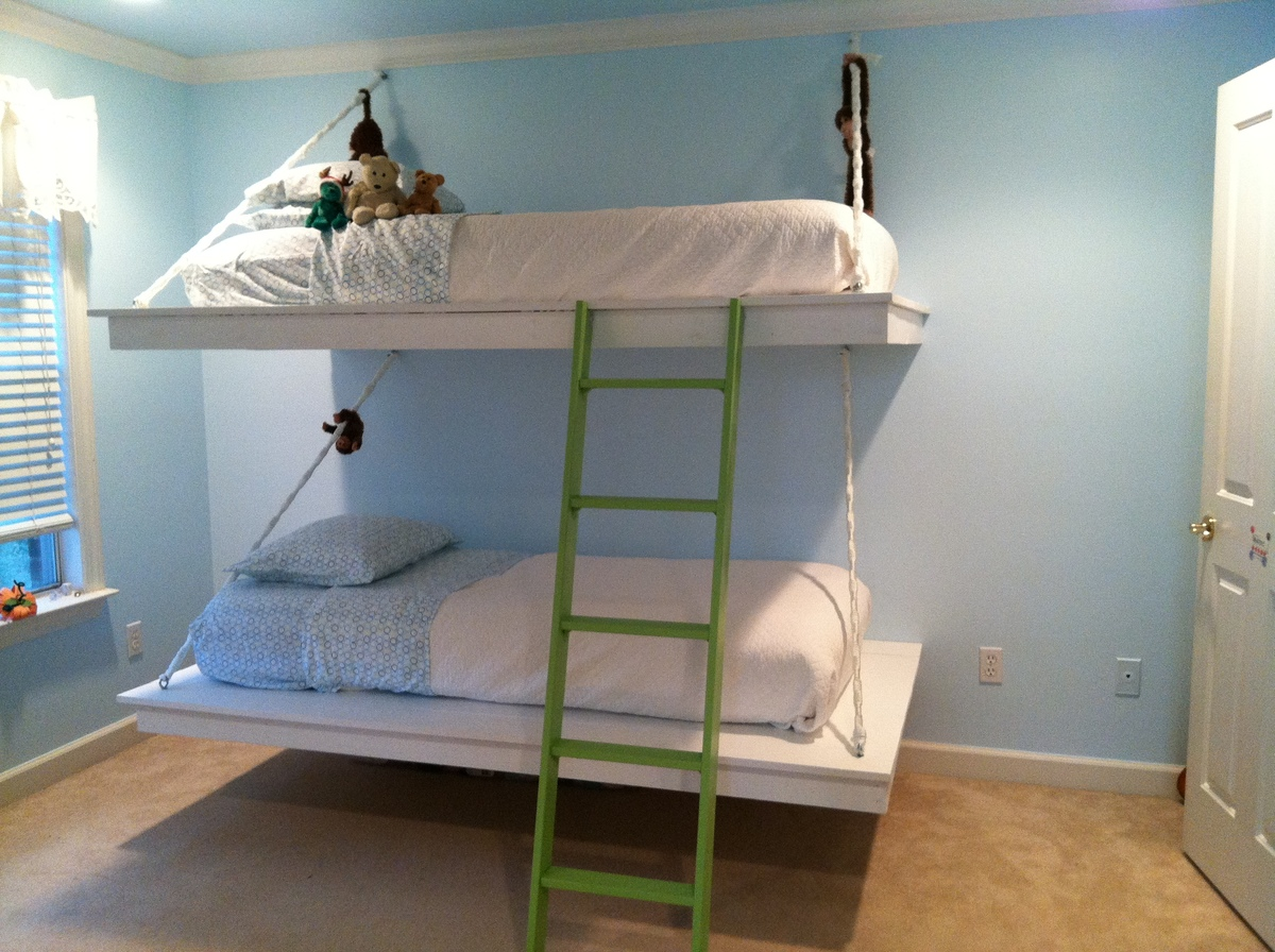 diy hanging bunk bed plans plans free