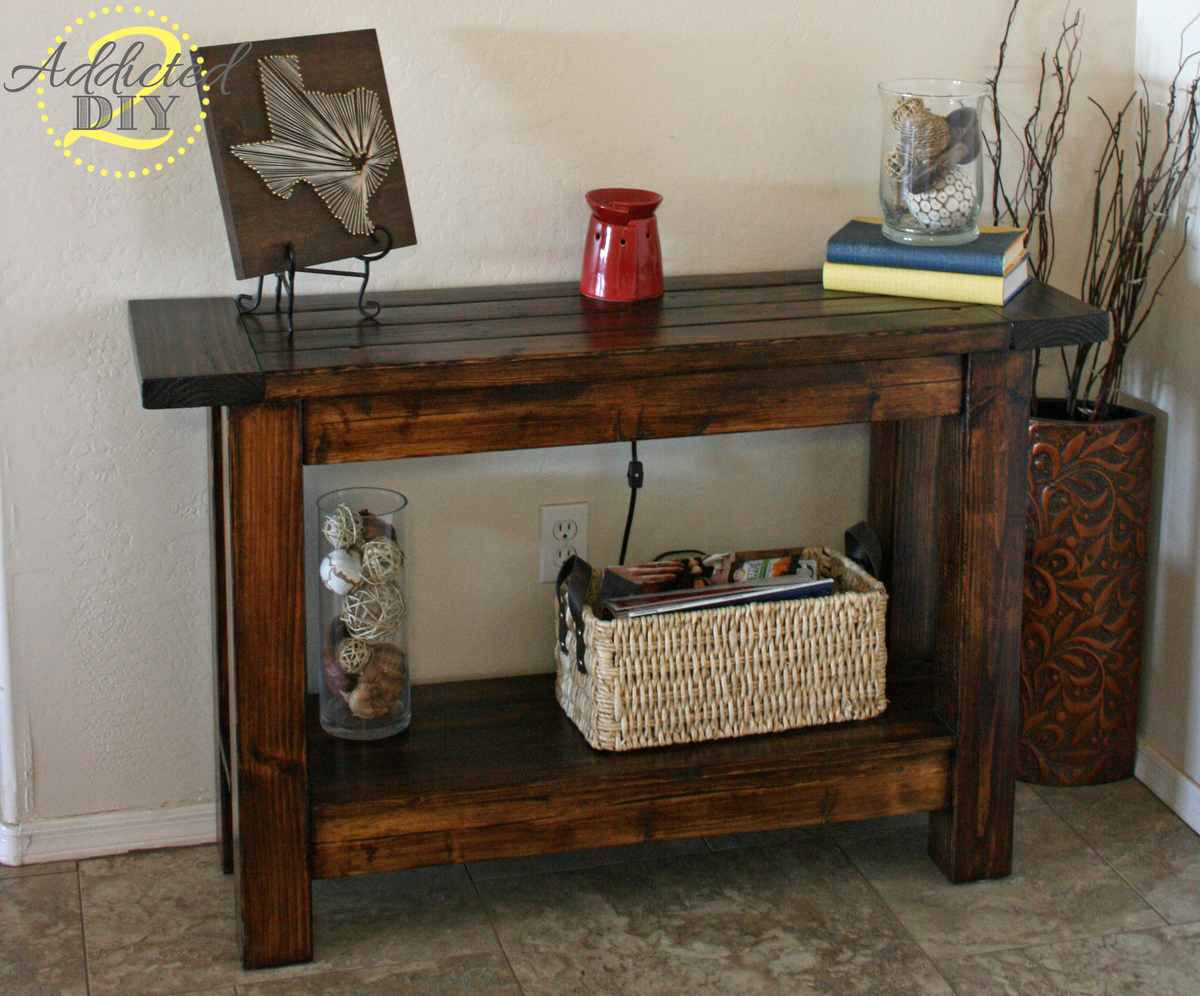 with table faux drawers diy youtube watch entryway