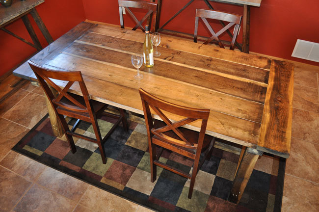 ana white rustic farmhouse table with distressed finish diy projects