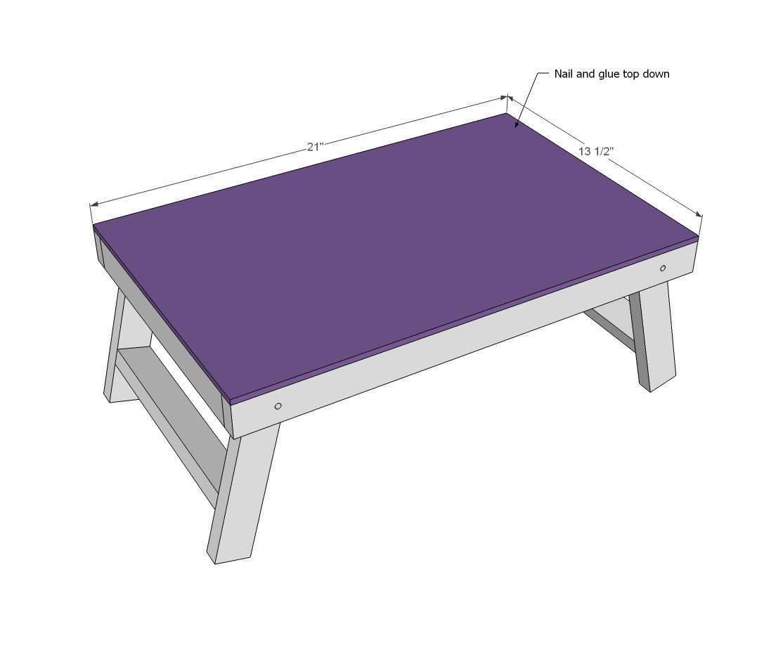 Ana White | Folding Lap Desk - DIY Projects