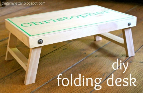 DIY plans for a folding lap desk from Ana-White.com