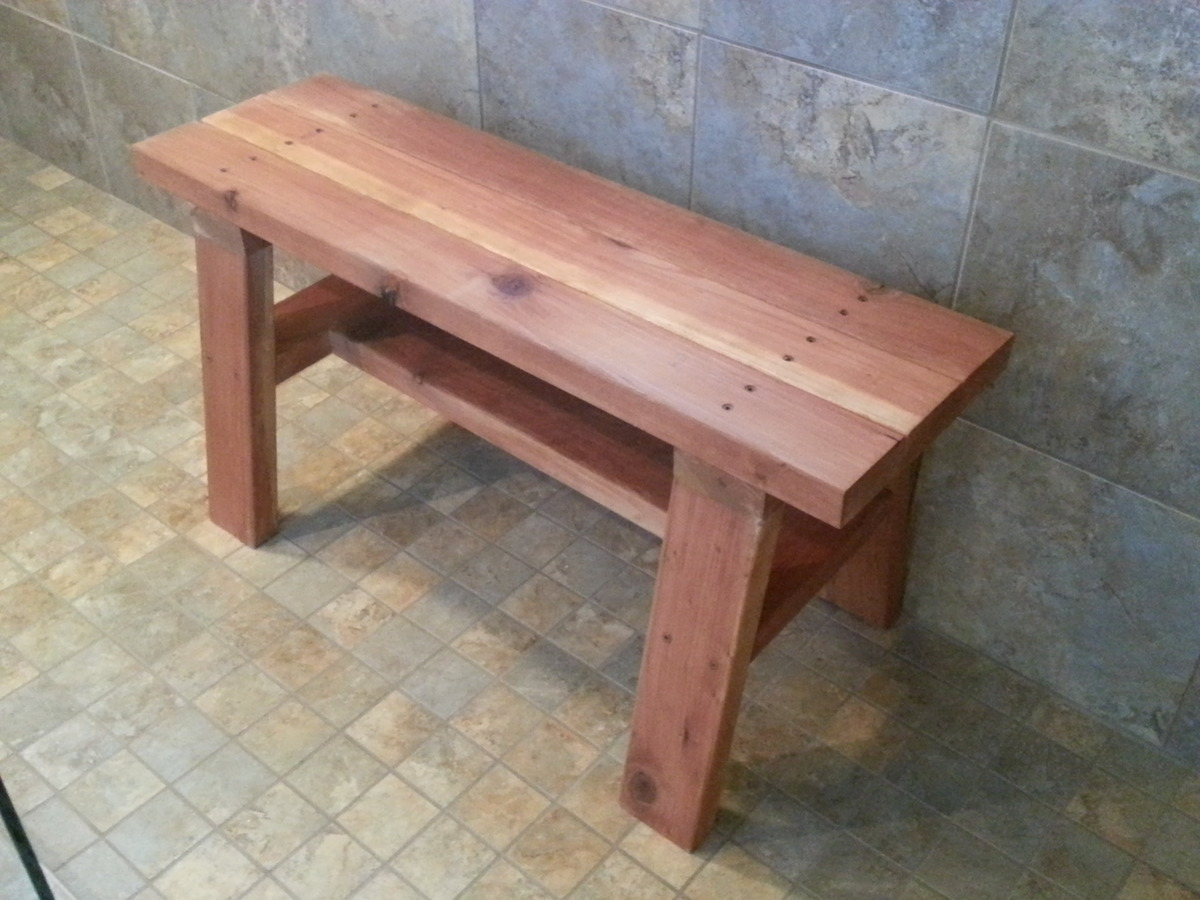 Ana White | Redwood Shower Bench - DIY Projects