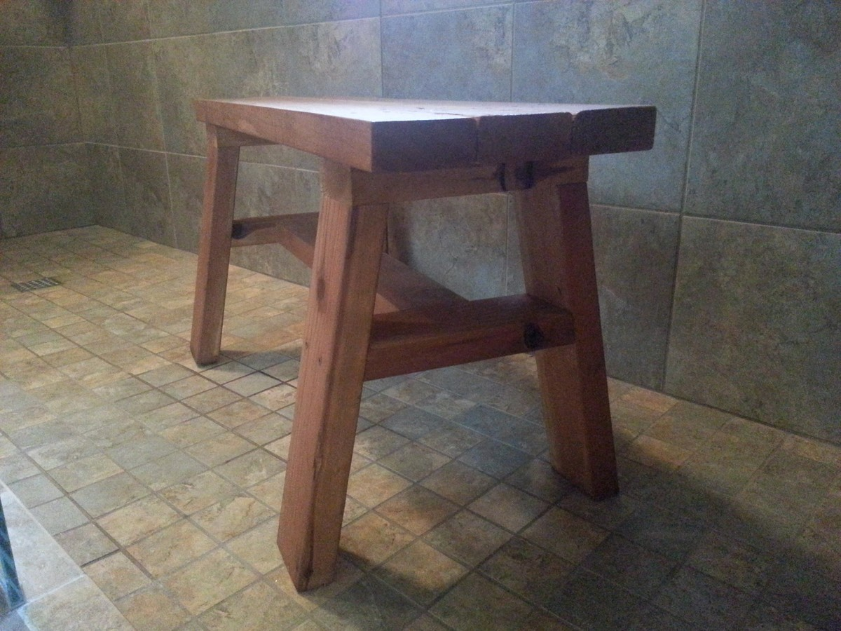 Ana White Redwood Shower Bench Diy Projects