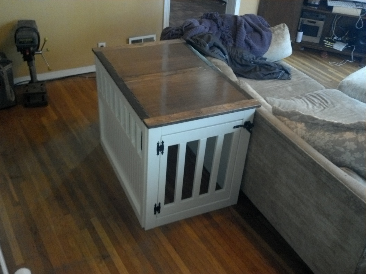 Ana White Dog Kennel End Table for Donation DIY Projects