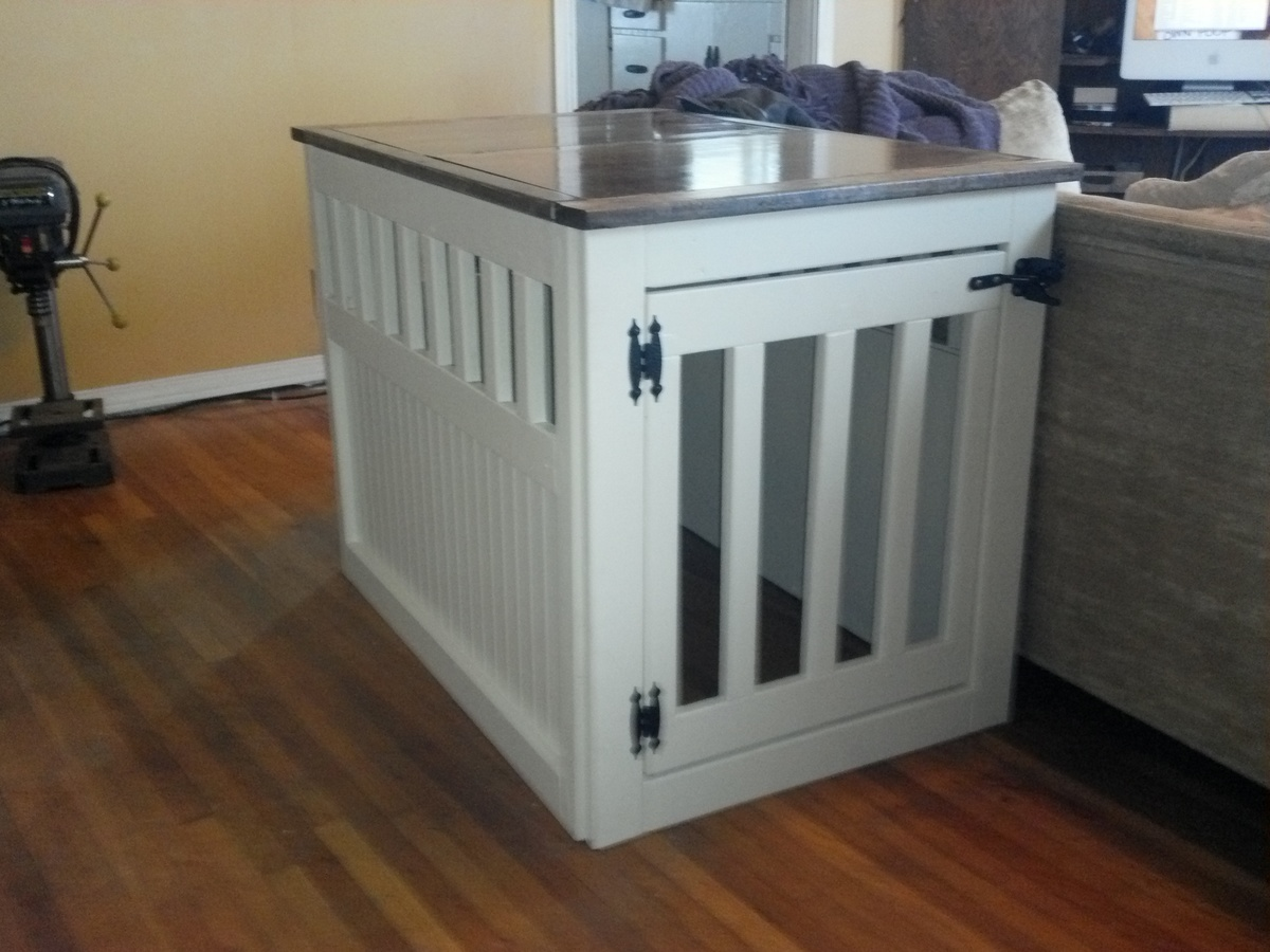 Dog Kennel End Table For Donation
