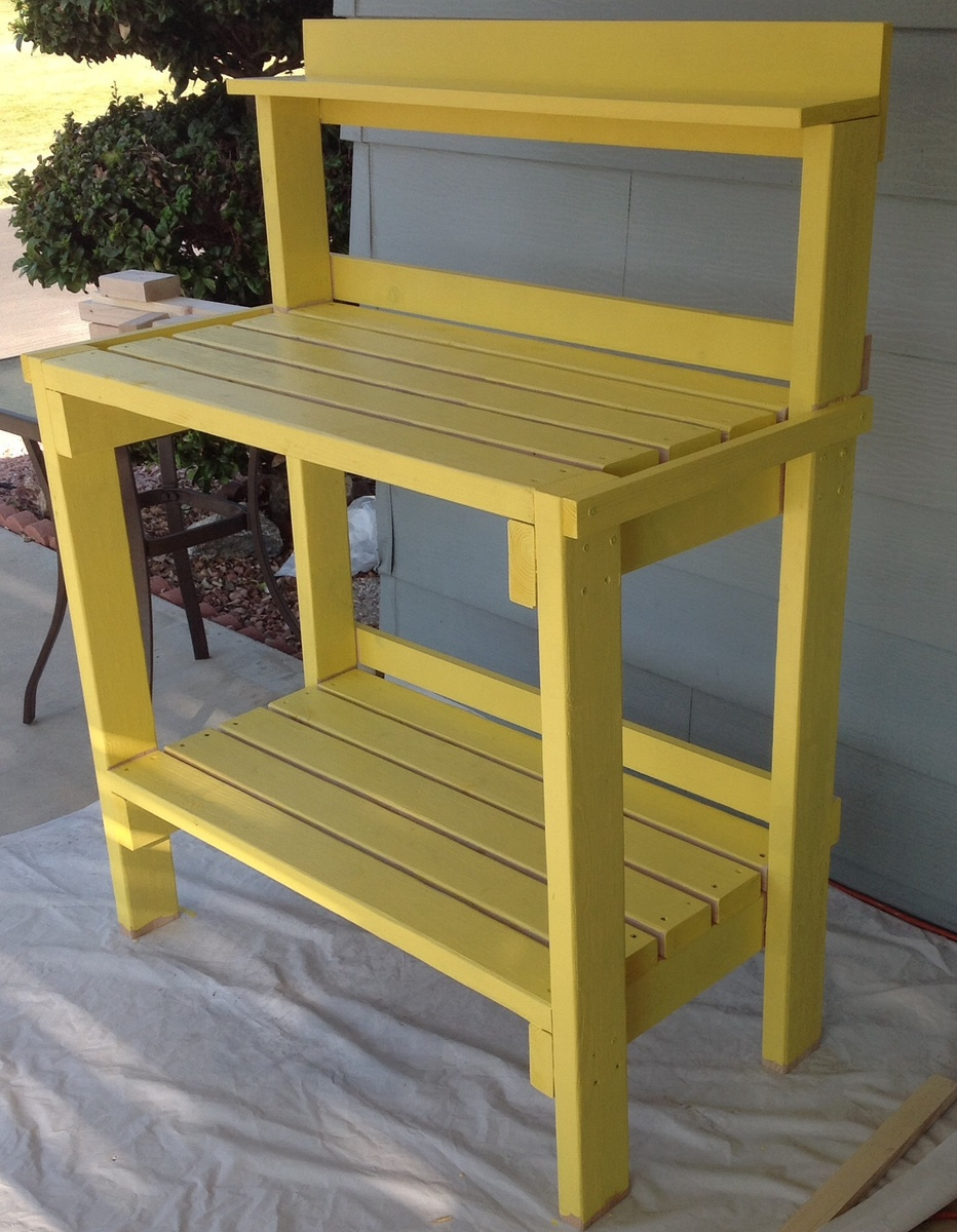Ana White Daffodil Yellow Potting Bench Diy Projects