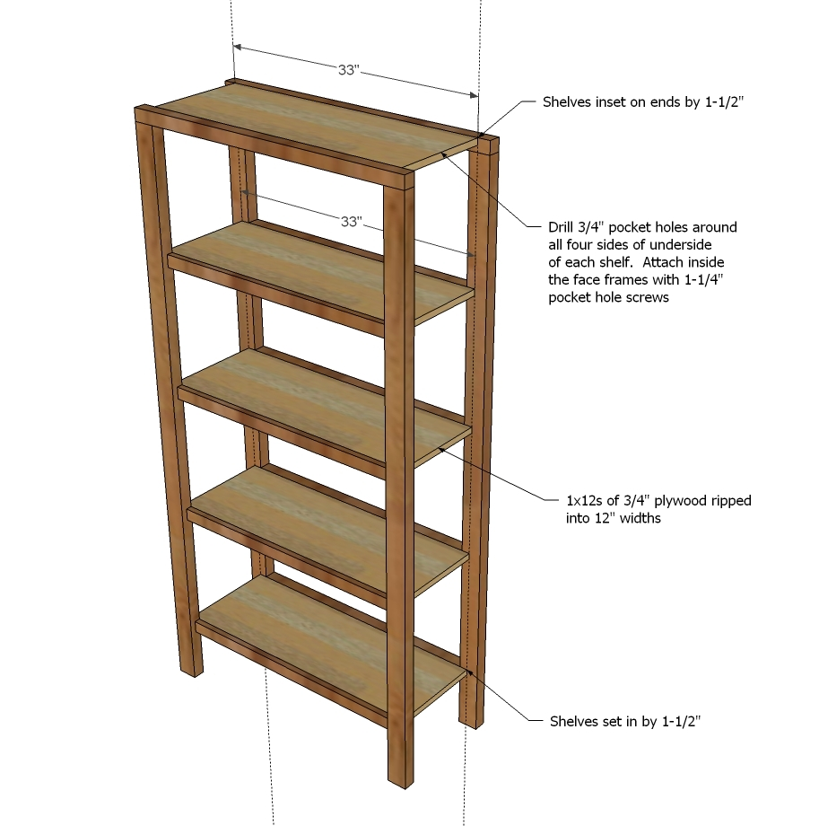 Make Sure The Shelf Trim Placements Match Exactly Front Face Frame So Your Shelves Will Be Square