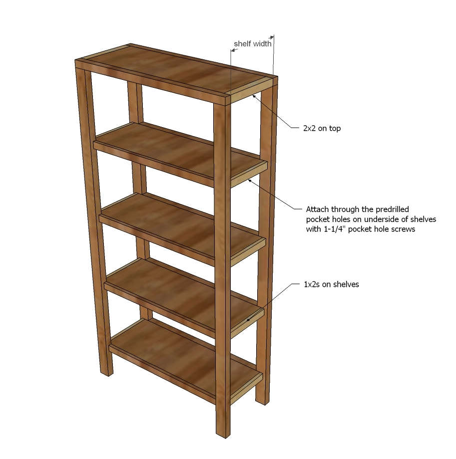 Then Attach The Shelves To Front And Back Face Frames As Shown In Diagram Note 1 2 Gap At End Of Each Shelf For Trim Pieces