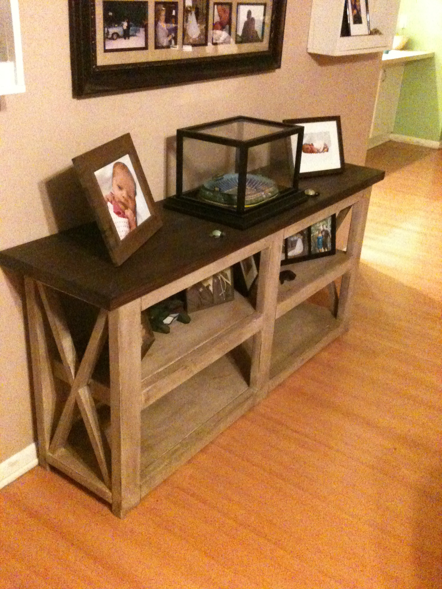 Rustic X Sofa Table