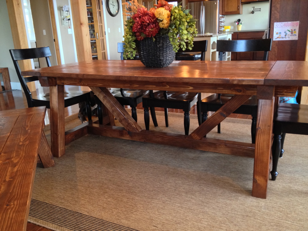 Sensational 4X4 Truss Beam Table And Bench Ana White Machost Co Dining Chair Design Ideas Machostcouk