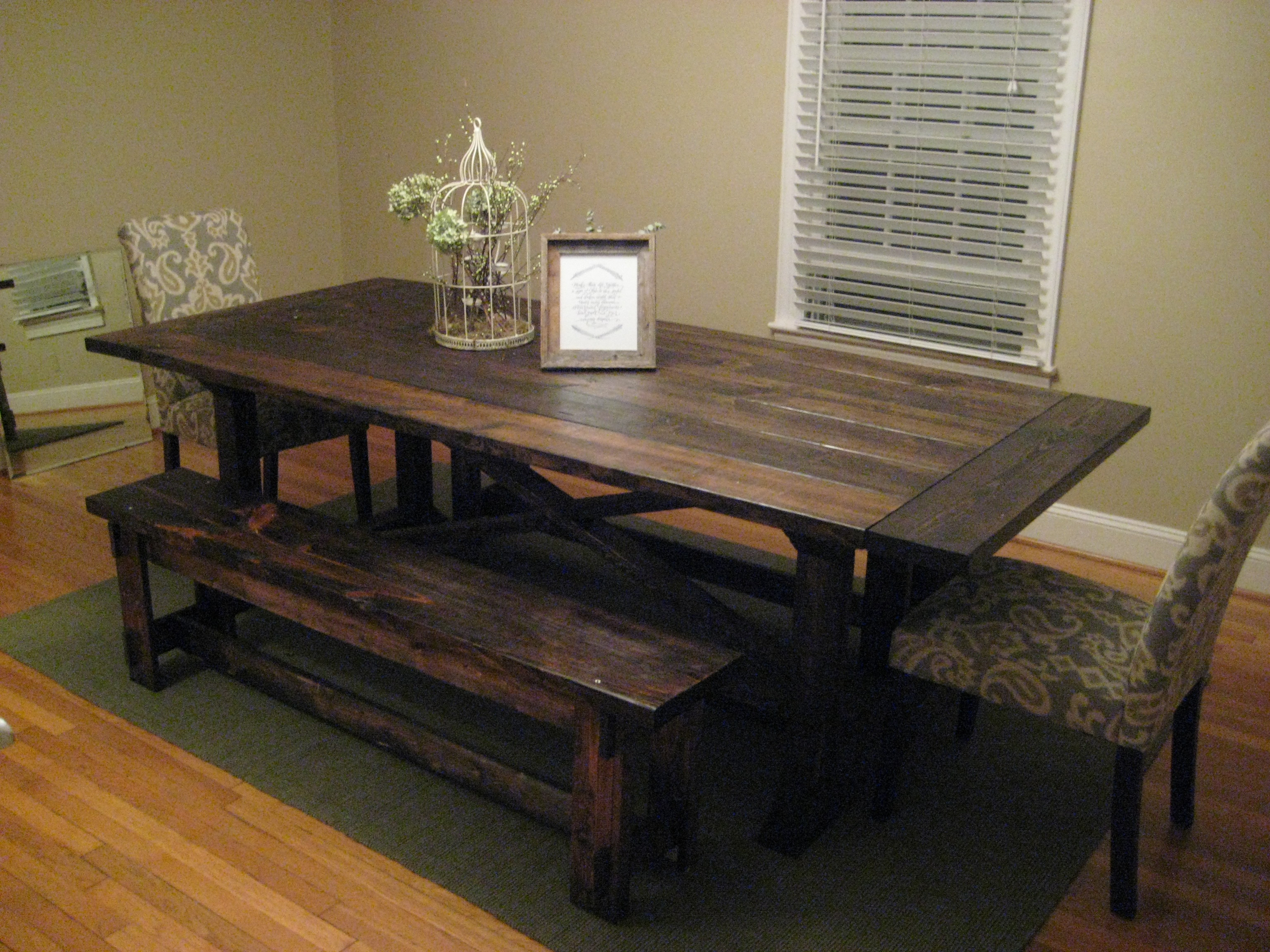 Ana White Rekourt Farmhouse Table Diy Projects