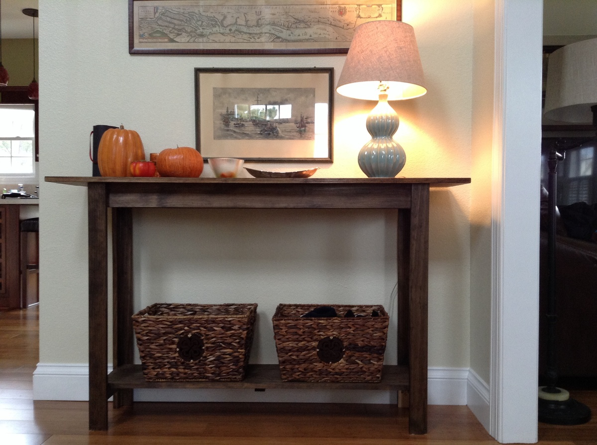 Ana white entry table diy projects for Entryway furniture