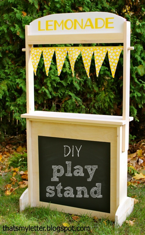 Ana white changeable play stand lemonade market post for Kids lemonade stand plans