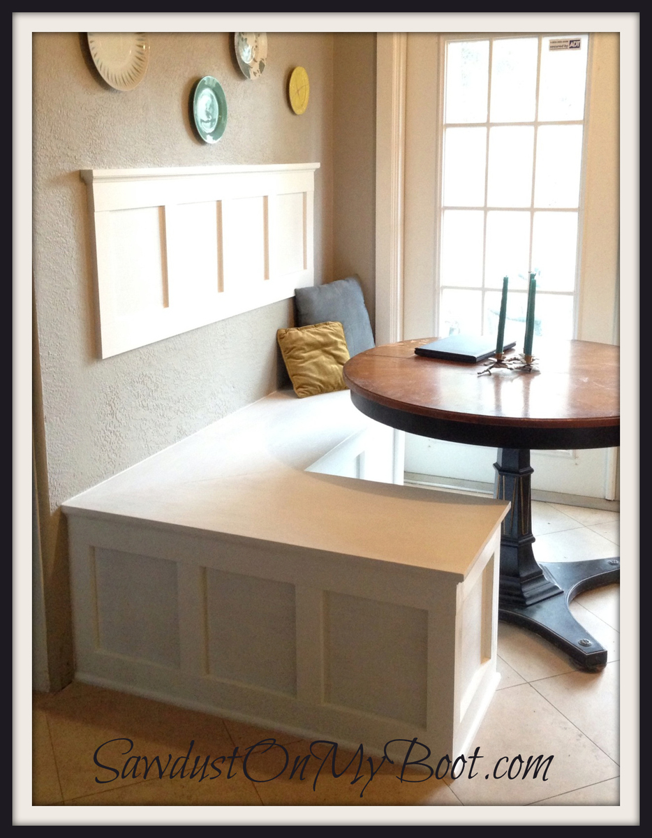 Ana white board batten banquette diy projects - Diy kitchen banquette ...