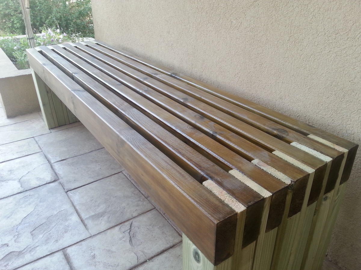 Ana white my new and amazing outdoor bench diy projects Yard bench