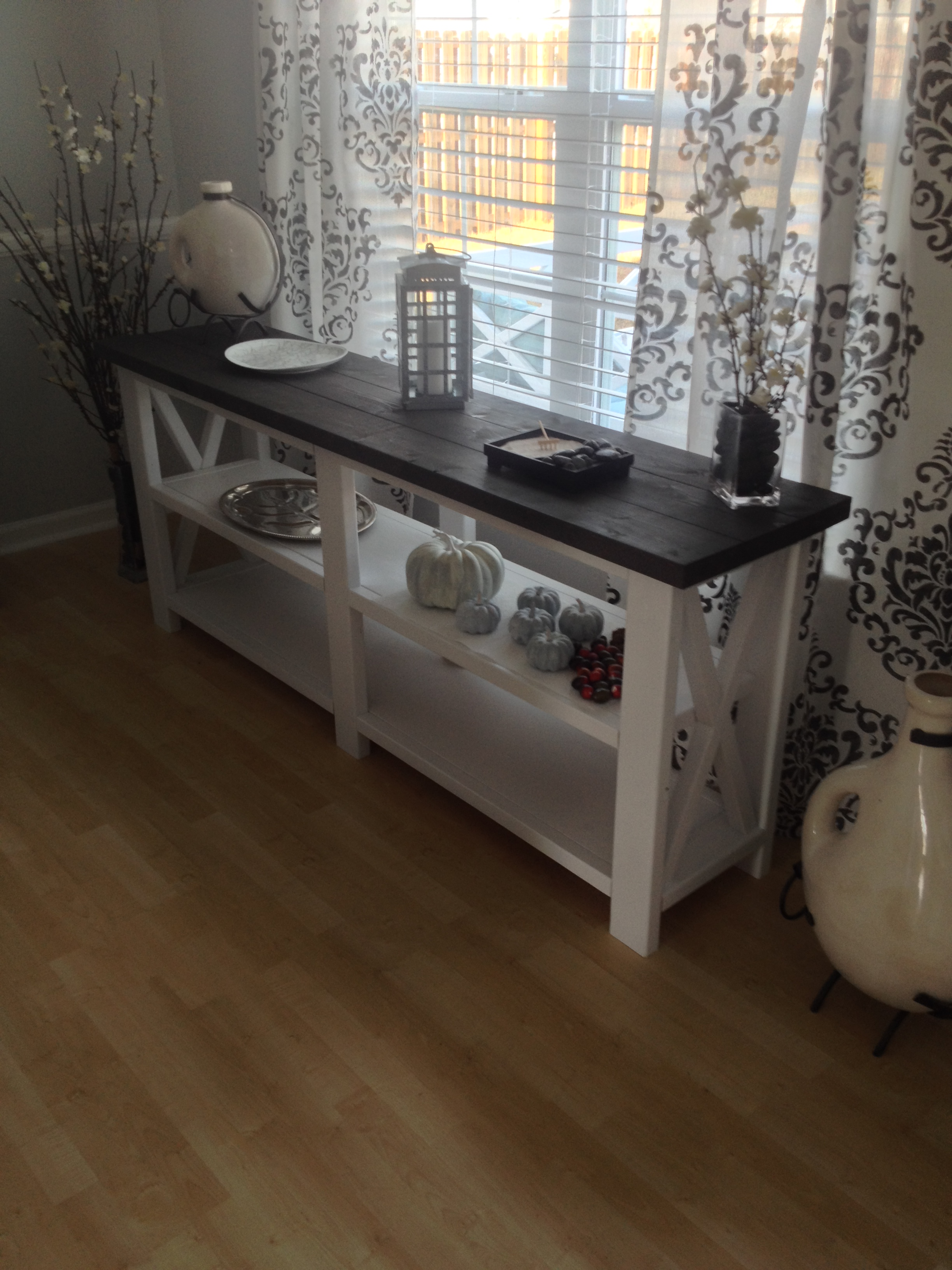 diy sofa table ana white. Rustic X Console Table Diy Sofa Ana White A