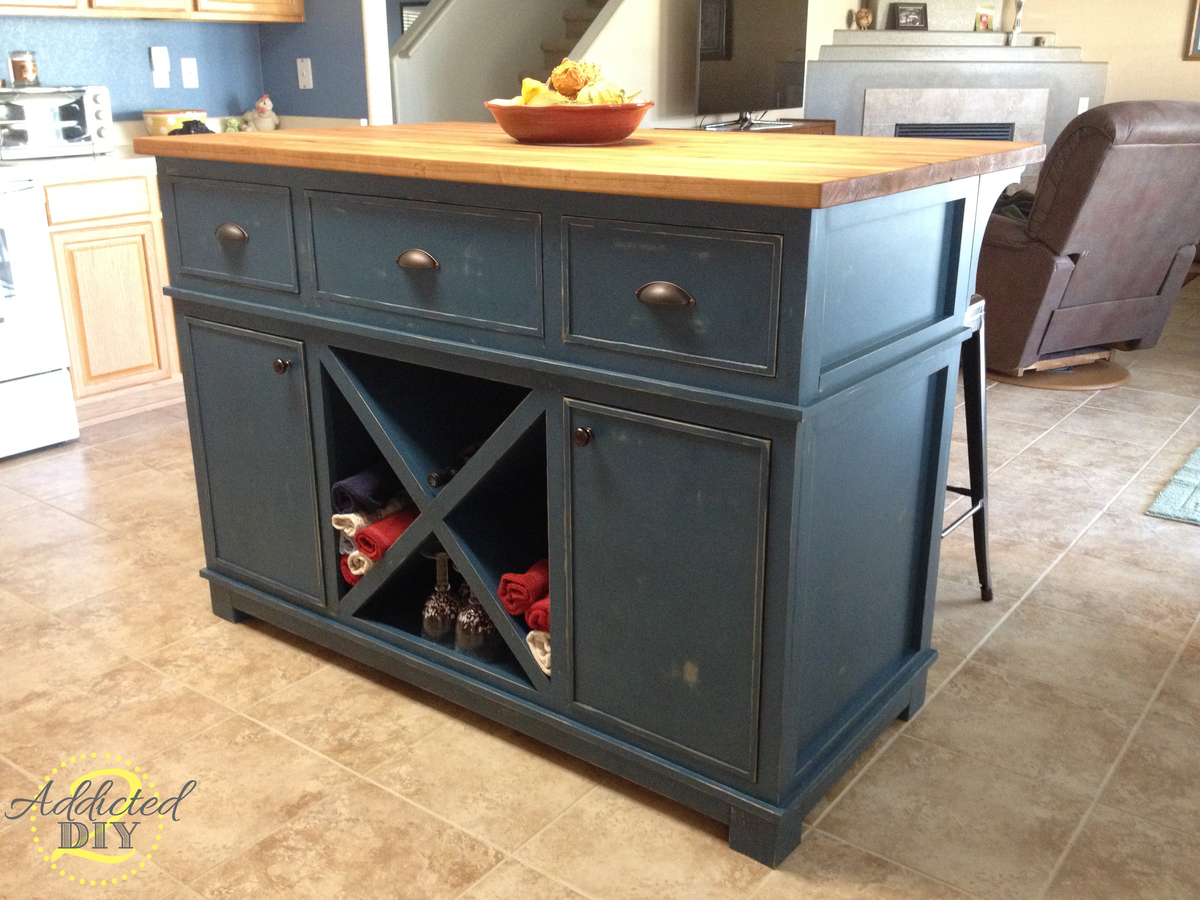 Ana white diy kitchen island diy projects Kitchen island plans